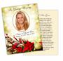 Ponsietta DIY Funeral Card Template