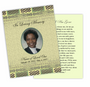Redeemed DIY Funeral Card Template