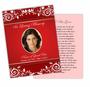Ruby DIY Funeral Card Template