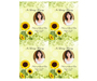 Sunflower DIY Funeral Card Template front