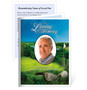 Golfer Small Folded Funeral Card Template