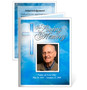 Heaven Folded Funeral Card Template