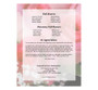 Rosy Small Folded Funeral Card Template back view