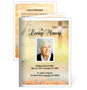 Savior Small Folded Memorial Funeral Card Template