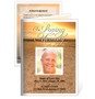 Timeless Small Folded Funeral Card Template