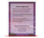Twilight Small Folded Funeral Card Template back