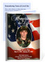 US Flag Small Folded Funeral Card Template