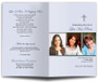 Spiritual Letter Bifold Program Template