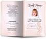 angela peach Funeral Program Template