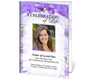 Amethyst A4 Program Funeral Order of Service Template