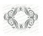 Allegro Elegant Vector Flourish Border Template
