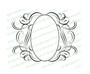 Andante Elegant Vector Flourish Border Template