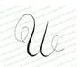 Monogram Letter U