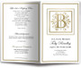 Funeral Gold B Monogram Template