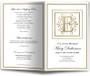 Funeral Gold E Monogram Template