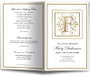 Funeral Gold F Monogram Template