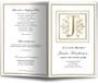 Funeral Gold J Monogram Template
