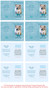 Teal Folded DIY Pet Memorial Card Template inside view