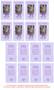 Purple DIY No Fold Pet Memorial Card Templates inside view