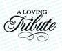 A Loving Tribute Funeral Program Title