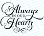 Always In Our Hearts Funeral Program Title