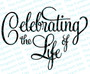 Celebrating The Life Of 2 Funeral Program Title