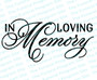 In Loving Memory Funeral Program Title
