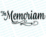 In Memoriam Funeral Program Title