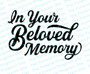 In Your Beloved Memory Funeral Program Title