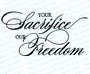 Your Sacrifice Our Freedom Program Title