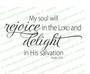 My Soul Will Rejoice Funeral Bible Verses Word Art