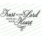 Trust In The Lord Bible Verse Word Art