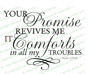 Your Promise Revives Me Bible Verse Word Art