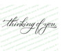 Thinking of You Condolences Word Art Design
