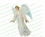 Devout Angel Funeral Clipart light skin
