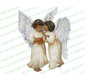 Joyous Angels Vector Funeral Clipart dark skin