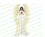 Prayerful Angel Funeral Clipart dark skin