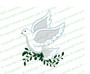 White Dove Funeral Clipart Design