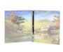 Country Landscape Ring Book Binder Funeral Guest Book inside view