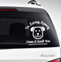 Dog In Memory Car Decals back view