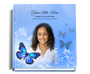 butterfly funeral guest book with photo