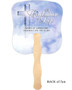 Adoration Cardstock Memorial Church Fans With Wooden Handle back no photo