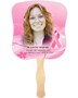 Awareness Cardstock Memorial Church Fans With Wooden Handle front photo