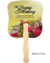 Bouquet Cardstock Memorial Church Fans With Wooden Handle no photo