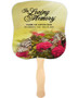 Bouquet Cardstock Memorial Church Fans With Wooden Handle front