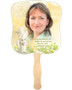 Cherub Cardstock Memorial Church Fans With Wooden Handle front photo