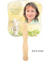 Cherub Cardstock Memorial Church Fans With Wooden Handle back photo