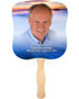 Dusk Cardstock Memorial Church Fans With Wooden Handle front photo