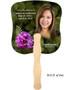 Essence Cardstock Memorial Fan With Wooden Handle