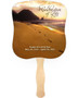Footprints Cardstock Memorial Church Fans With Wooden Handle front